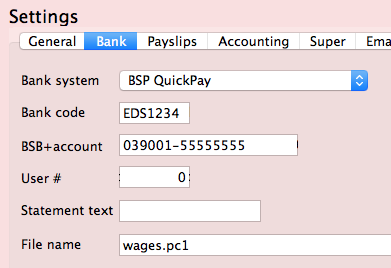 BSP QuickPay for direct credits.