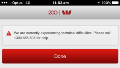 Westpac customers locked out of online and mobile banking.