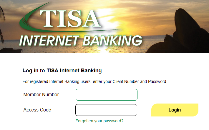 How to apply for TISA Savings and Loan Internet Banking.