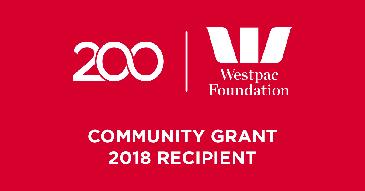L4Life Awarded a 2018 Westpac Foundation Community Grant.