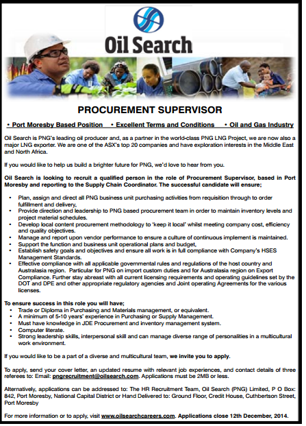 Jobs and Employments in PNG.