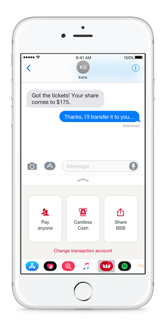 Westpac turns to iMessage after social media keyboard flop.