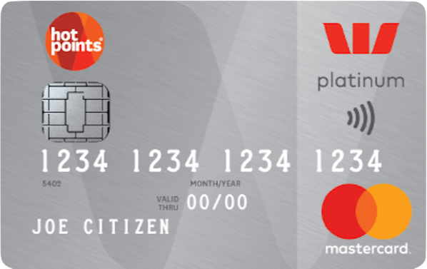 Guide to the Westpac hotpoints Platinum Mastercard.