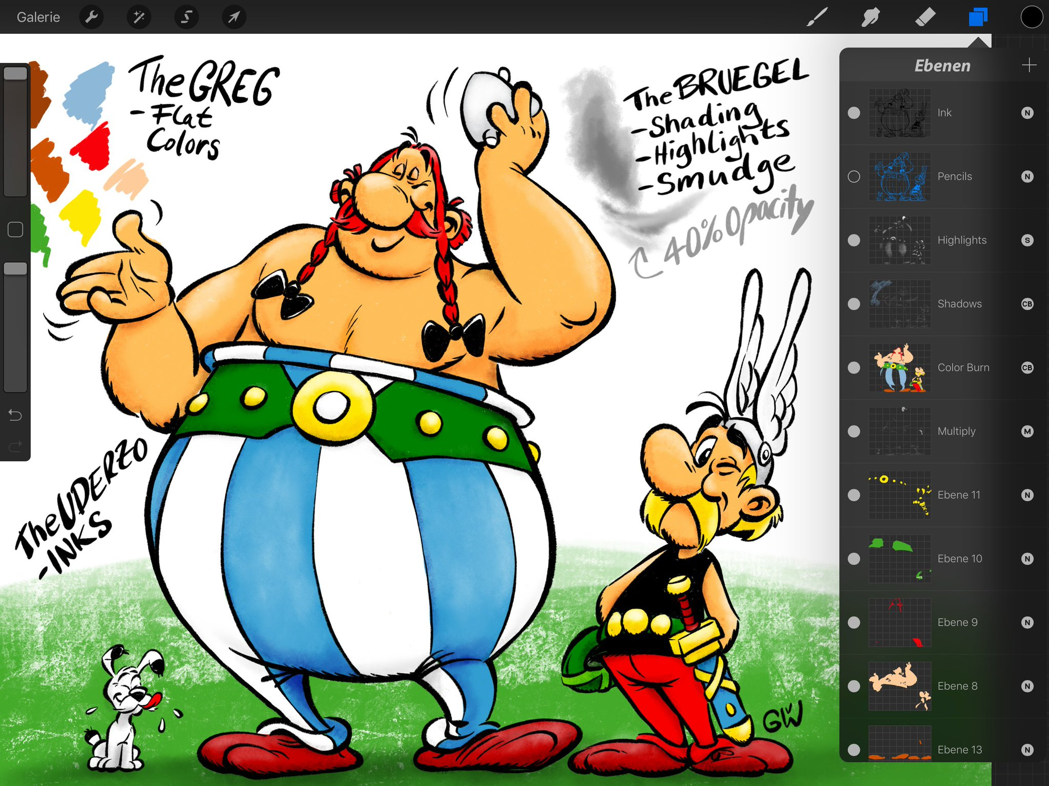 "Georg von Westphalen on Twitter: ""#Asterix & #Obelix."