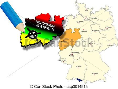 Clipart Vector of North Rhine.