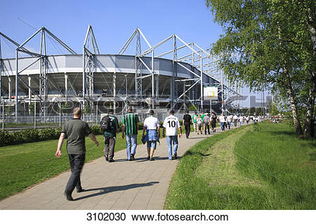 Stock Photography of Football fan and stadium Borussia.