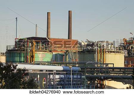 Stock Photography of Chempark, Chemical Park, Bayer AG, Leverkusen.