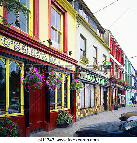 Picture of ROW OF PUBS WESTPORT COUNTY MAYO IRELAND lpt11747.
