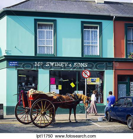 Stock Photography of JAUNTING CART WESTPORT COUNTY MAYO IRELAND.