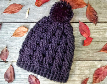 Color Block Knit Beanie with Pom Color Block Knit Beanie.