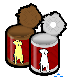 Canned cat food clipart.