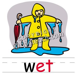 Wet weather clipart.