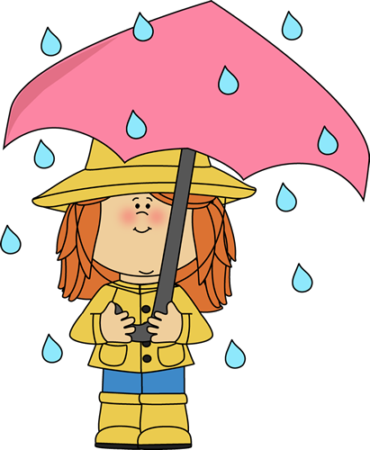 Rainy Clothes For Kids Clipart.