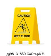Wet Floor Sign Clip Art.