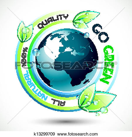 Clip Art of Ecology Green conceptual background with green related.