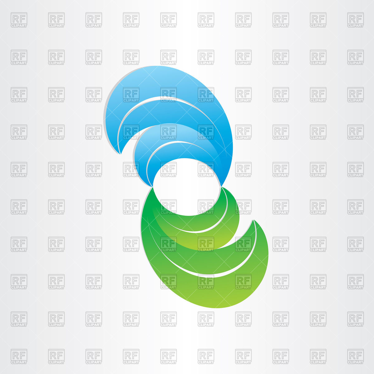 Green and blue wet leaves icon Vector Image #77456.