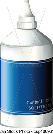 Clipart Vector of A contact lens solution.