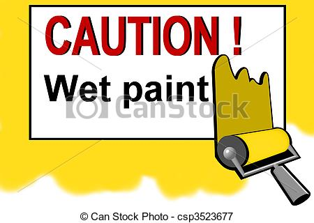 Clipart of Caution.