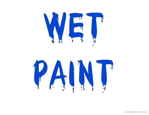 Wet paint clip art free.