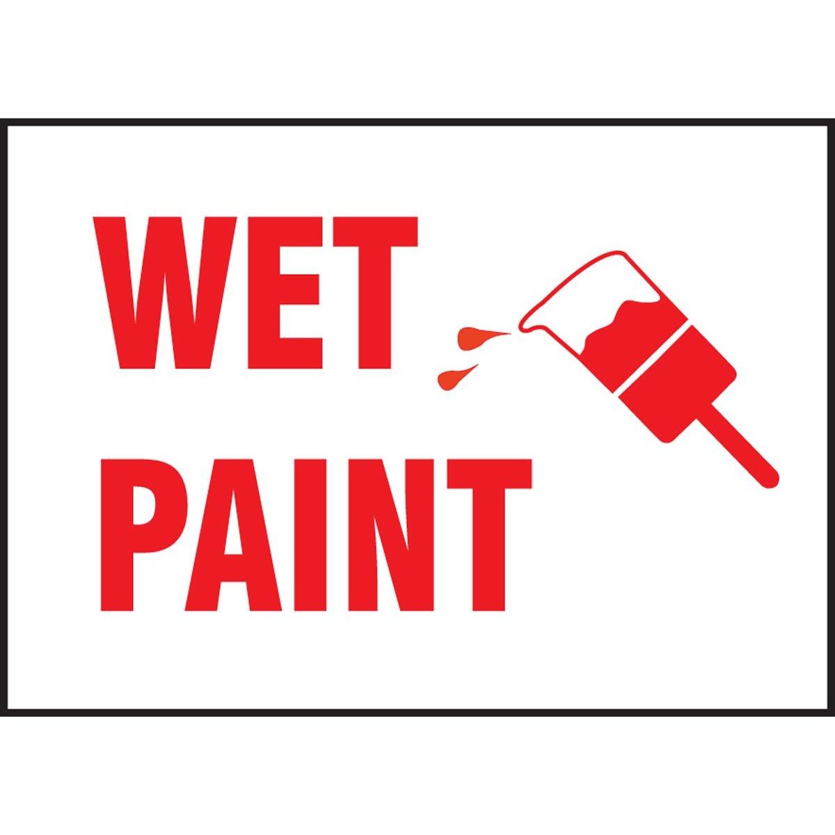 Wet Paint Clipart.