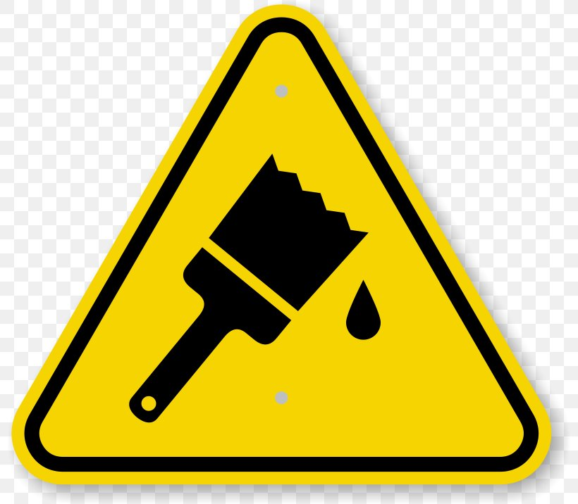 Paint Label Warning Sign Sticker Clip Art, PNG, 800x716px.