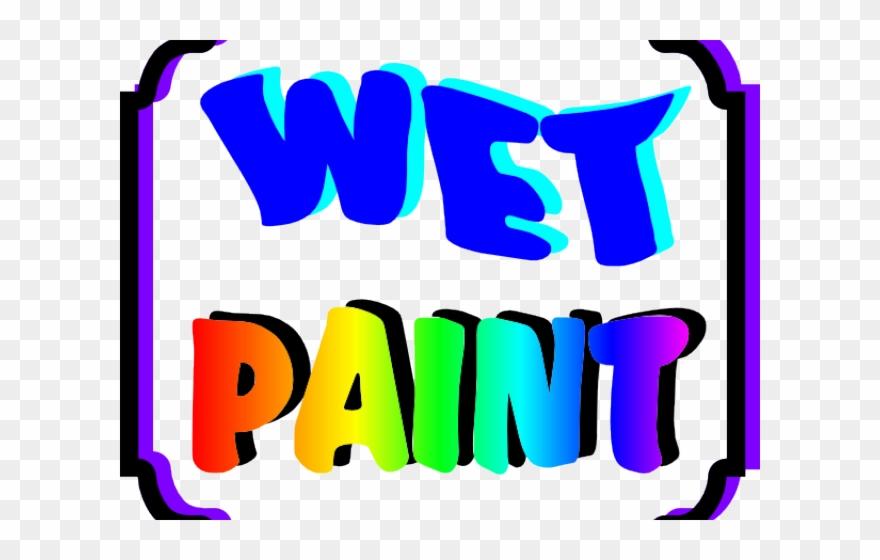 Painting Clipart Wet Paint.