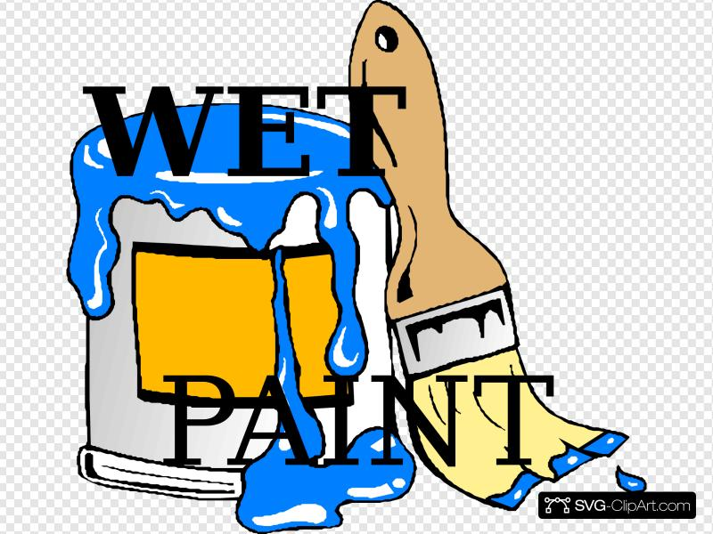 Wet Paint Clip art, Icon and SVG.