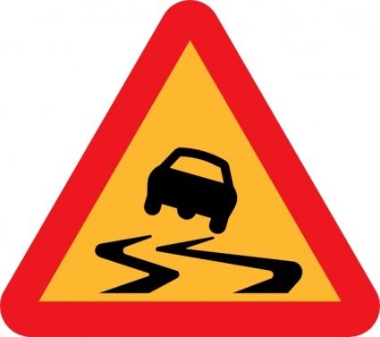 Wet Road Clip Art.
