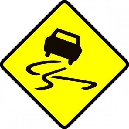 Slippery Road Clipart.