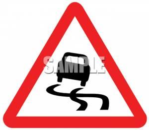 Wet Roads Clipart.