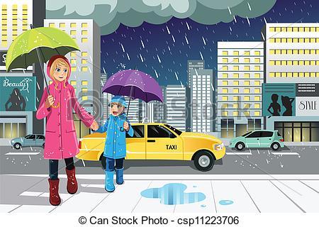 Clipart Of Rainy Season.