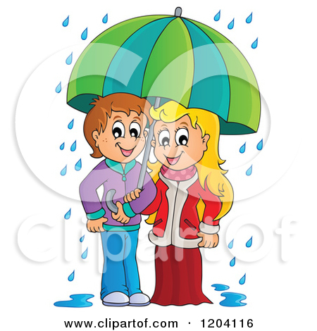 3d clipart rainy season.