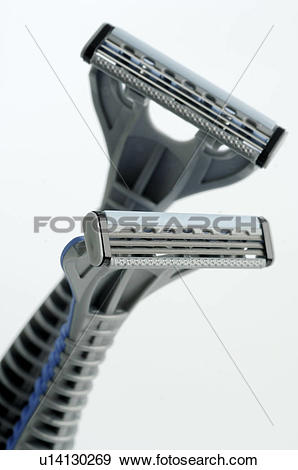 Stock Photograph of Men's Spa: Wet shaver u14130269.