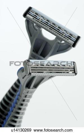 Stock Photograph of Men's Spa: Wet shaver u14130269.