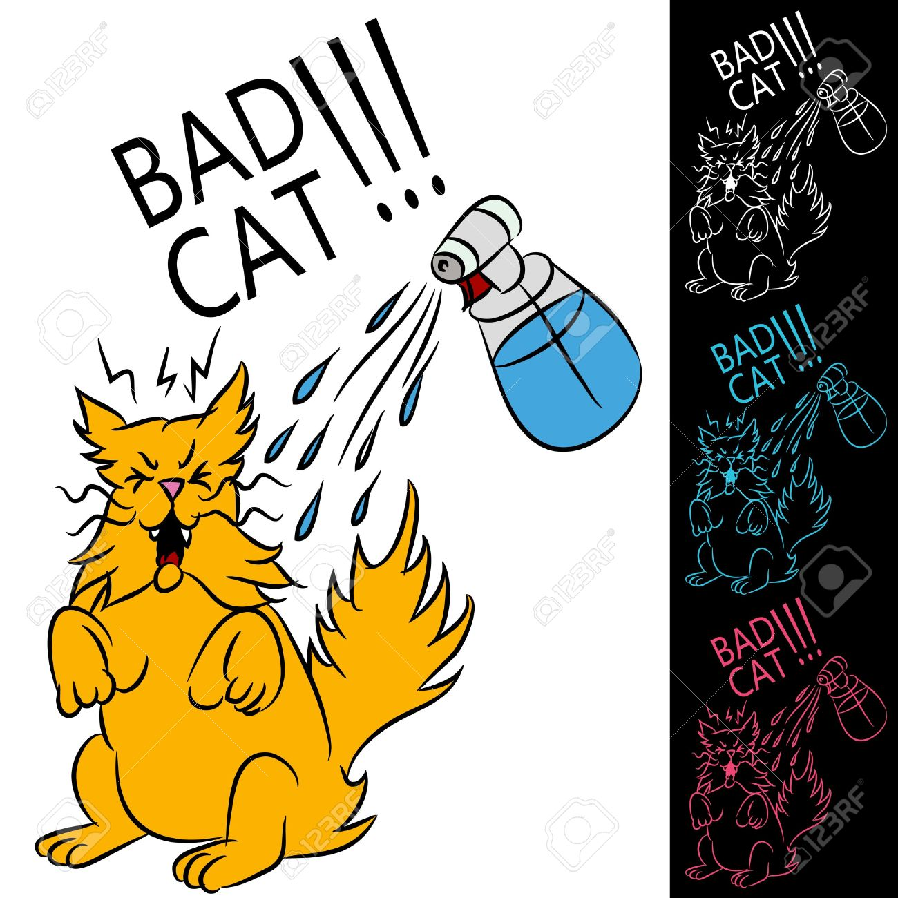 Wet Cat Clipart.