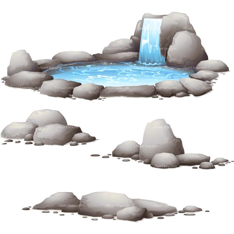 CLIPART STONES AND WATER.