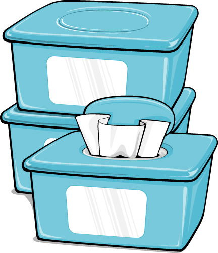 Collection of Wipes clipart.