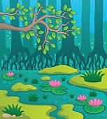 Wetlands Clip Art.