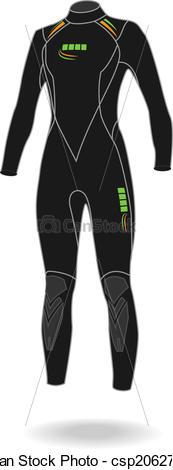 Clipart Vector of Wet Suit.