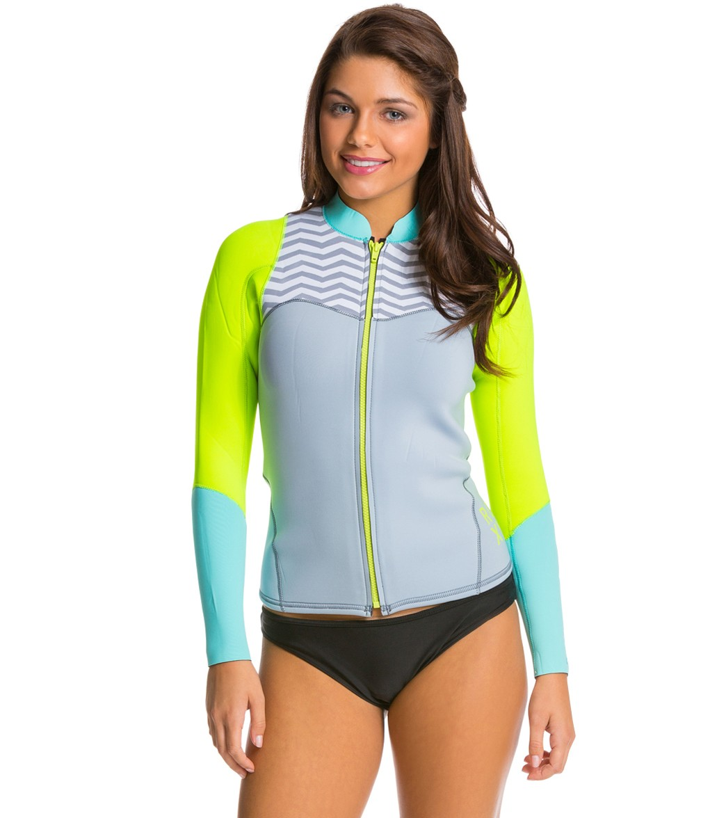 Roxy Women's 2mm XY Front Zip Long Sleeve Wetsuit Wetsuit Jacket.