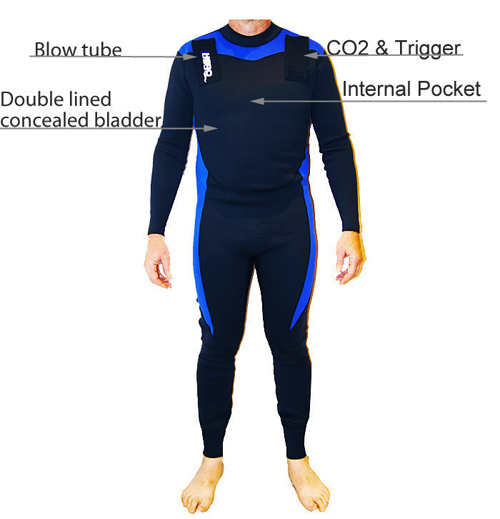 Wetsuit Specification for Inflatable Rashies, Inflatable Wetsuits.