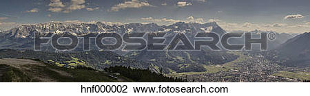 Stock Photo of Germany, Bavaria, View of Wetterstein mountain.