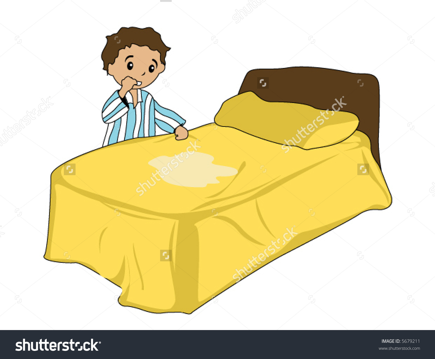 Bed Wetting Vector Stock Vector 5679211.
