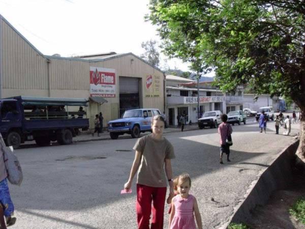 Wewak Town Centre.