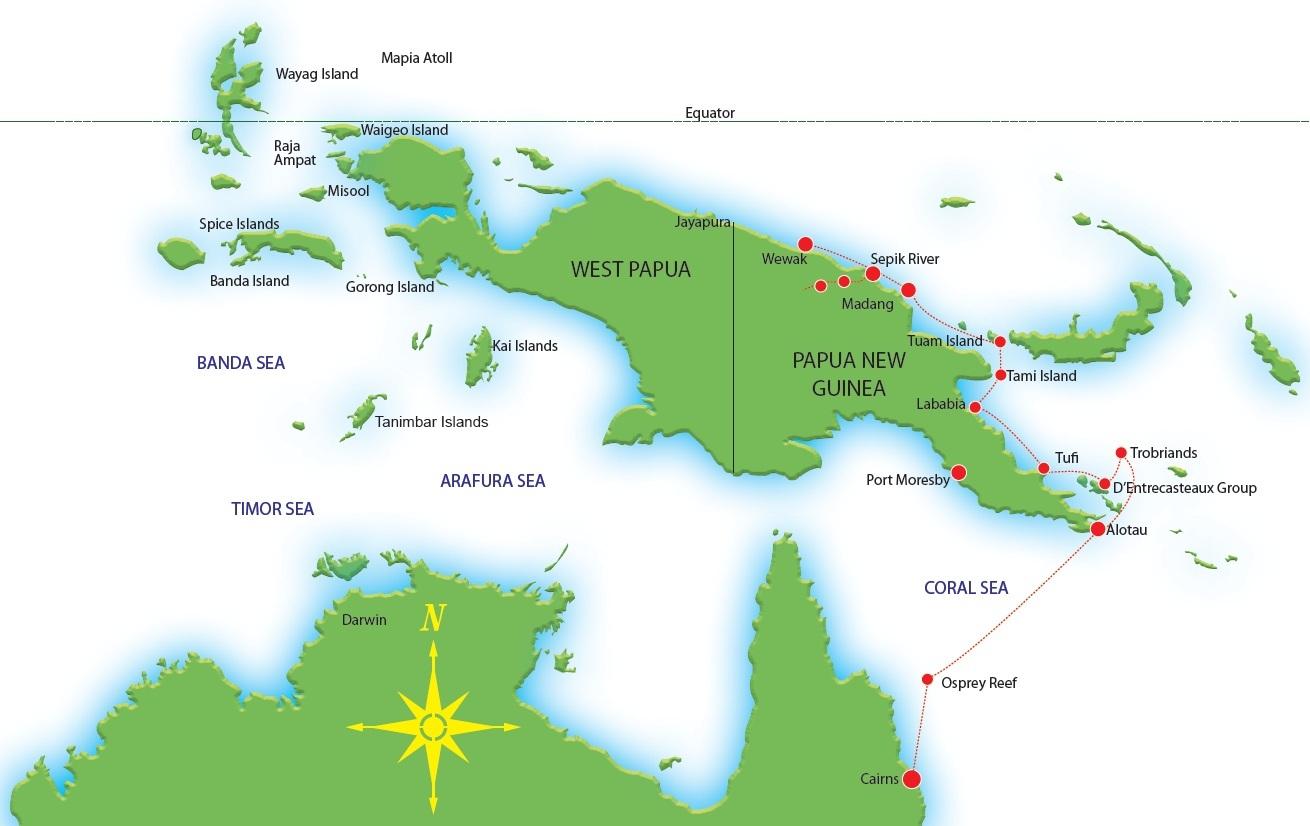 Wewak Papua New Guinea Map.