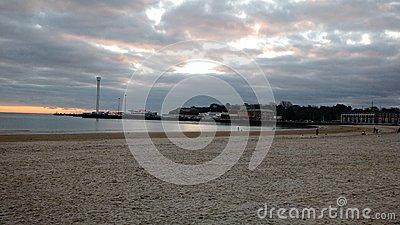 Weymouth Sunrise Stock Photo.