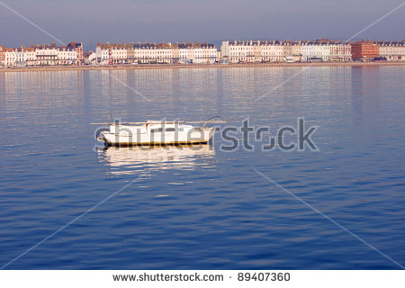 Rubber Dingy Outboard Motor Stock Photo 54153949.