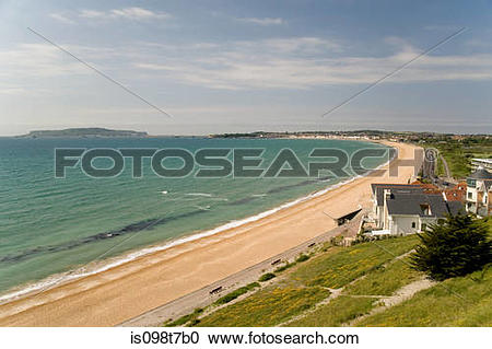 Stock Photography of Weymouth beach in dorset is098t7b0.