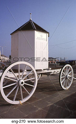 Stock Photography of Victorian Bathing Machine Weymouth Dorset eng.
