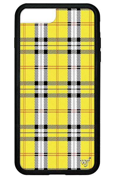 Wildflower Limited Edition iPhone Case for iPhone 6 Plus, 7 Plus, or 8 Plus  (Yellow Tartan).